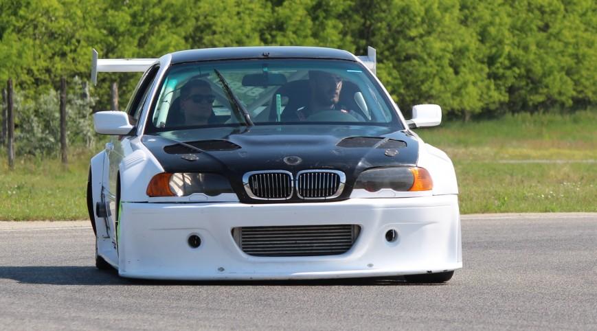 BMW E46 GTR Turbo autóvezetés KakucsRing 3 kör