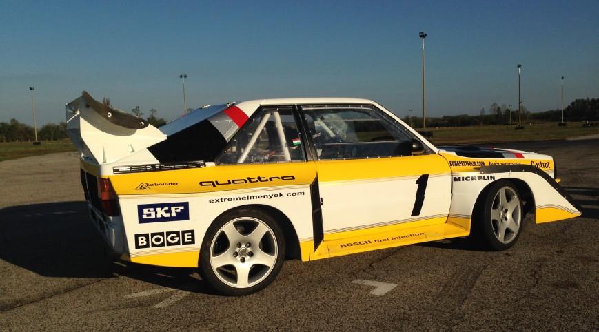 Audi S1 Rally car Proto élményvezetés Hungaroring 2 kör