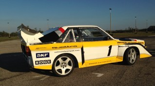 Audi S1 Rally car Proto autóvezetés Hungaroring 2 kör