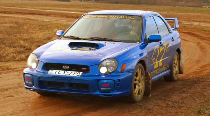 Subaru Impreza STI Versenyautó Vezetés Rallykrossz Pályán 12,5 km