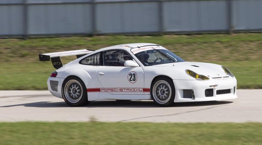 Porsche 911 GT3 RS versenyautó vezetés Euroring 6 kör
