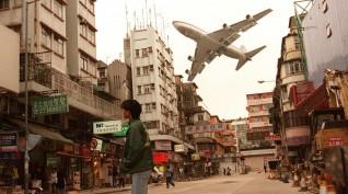 Hong Kong, szűk forduló a város felett - Boeing szimulátor 30 perc