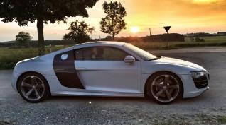 Audi R8 V8 420 LE autóvezetés Hungaroring 2 kör