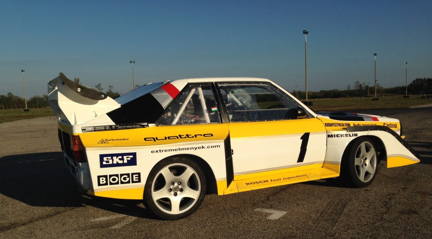 Audi S1 Rally car Proto autóvezetés és utazás KakucsRing 8+2 kör