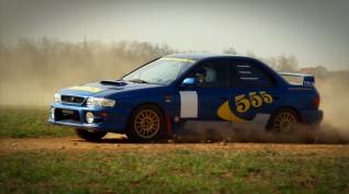 Subaru 555 Type RA versenyautó vezetés rallykrossz Pályán 12,5 km