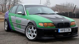 BMW E46 330i Sedan autóvezetés és drift taxi KakucsRing 6 kör