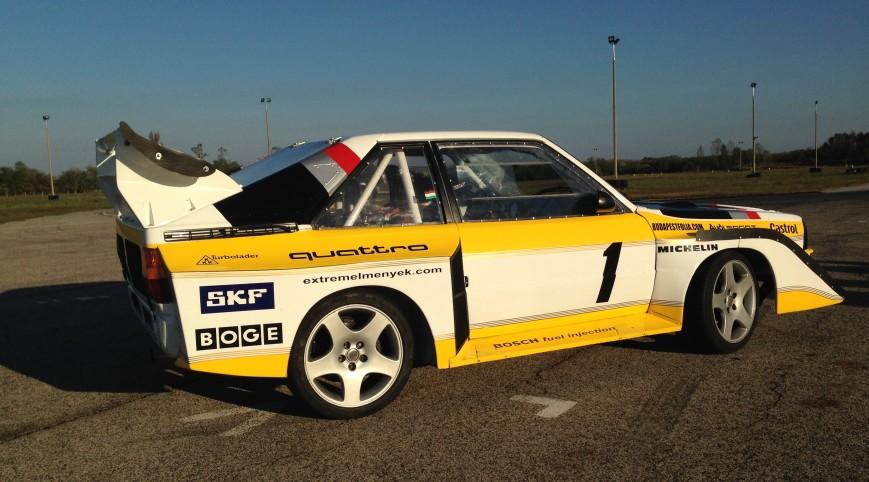 Audi S1 Rally car Proto élményvezetés KakucsRing 8 kör