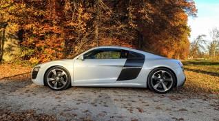 Audi R8 V8 420 LE autóvezetés Hungaroring 6 kör