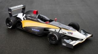 Forma Autó Vezetés Renault Versenyautóval Párosan 2X4 kör