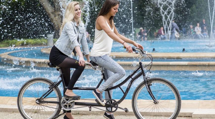 Retro Tandem Biciklivel a Margit-szigeten 2 óra