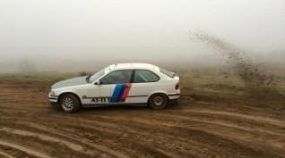 BMW E36 325i Utasautóztatás egy Rallypályán 10 kör