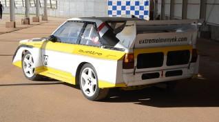 Audi S1 Rally car Proto vezetés Vörös Katlan Aréna 8 kör