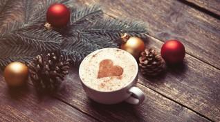 Karácsonyi barista csomag kávéval és könyvvel