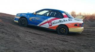 Subaru Impreza WRX STI versenyautó vezetés autócross pályán 3 kör