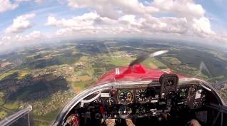 Repülőgép Vezetés Falke Motoros Vitorlázóval Budapest felett 20 perc