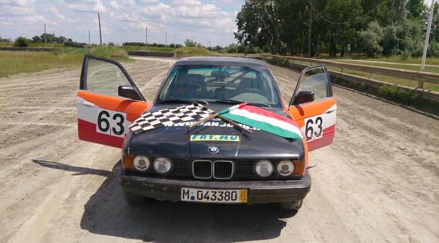 BMW E34 Rally Versenyautó Utasautóztatás 5 kör