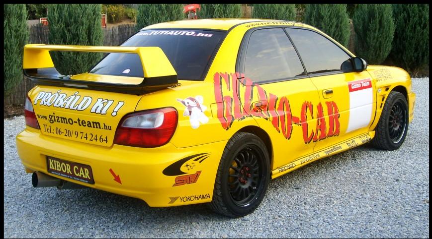 Subaru Impreza Utasautóztatás egy Rallypályán 10 kör