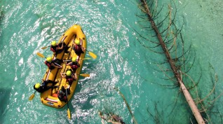 Félnapos rafting a Sočán
