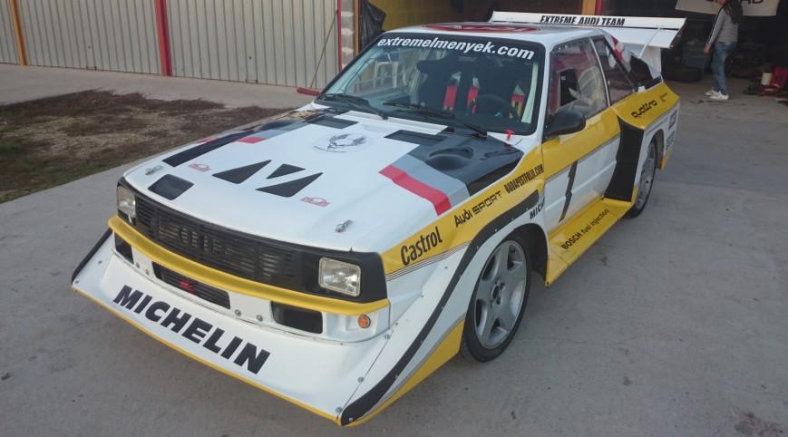 Audi S1 Rally car Proto vezetés vagy utasautóztatás KakucsRing 6 kör