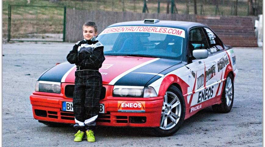 Drift vezetés gyerekeknek BMW E36 versenyautóval 15 perc