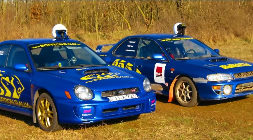 Subaru Impreza STi és RA Versenyautó Vezetés Rallykrossz Pályán 18 km
