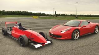 Ferrari 458 Italia+Formula Renault 2.0 autóvezetés Euroring 2+2 kör