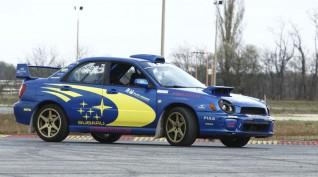Subaru Impreza WRX Rally autóvezetés vagy autóztatás KakucsRing 6 kör