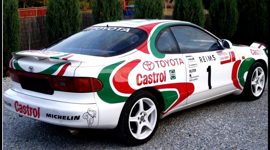 Toyota Celica Utasautóztatás egy Rallypályán 10 kör