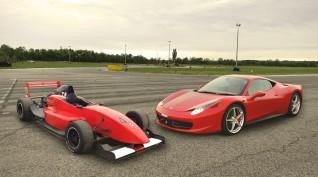 Ferrari 458 Italia+Formula Renault 2.0 autóvezetés Euroring 4+4 kör