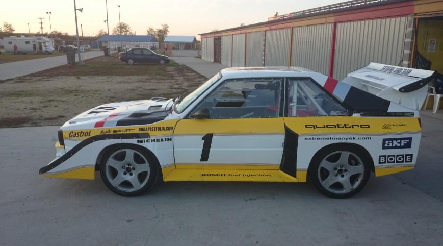 Audi S1 Rally car Proto autóvezetés KakucsRing 3 kör