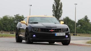 Lotus Exige+Chevrolet Camaro SS autóvezetés DRX Ring 4+4 kör+videó