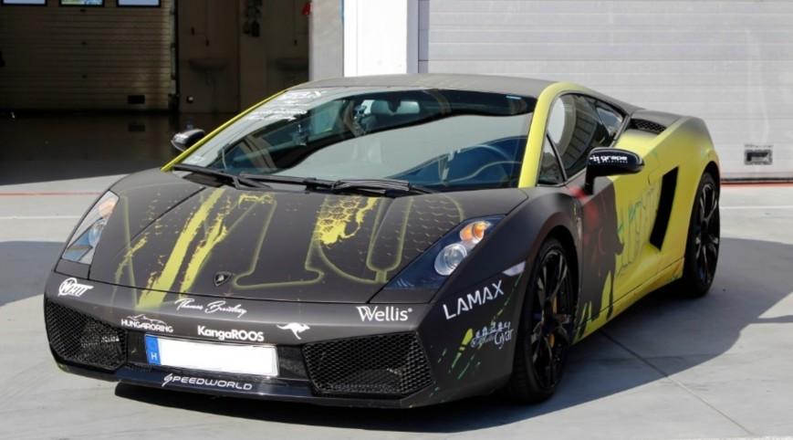 Lamborghini Gallardo autóvezetés Euroring 4 kör